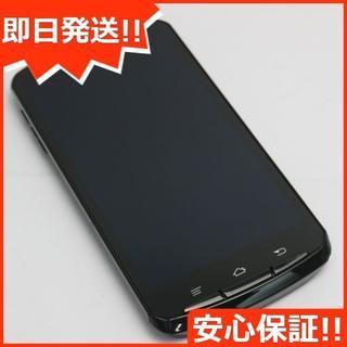フジツウ(富士通)の美品 au ISW13F クールブラック 白ロム(スマートフォン本体)