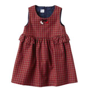 familiar - お値下げ中 ファミリア ジャンパースカート 90(おまけポシェット)