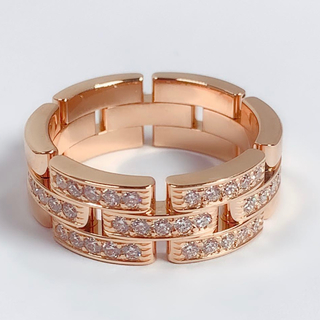 カルティエ(Cartier)のカルティエ リング マイヨン パンテール  指輪 ダイヤモンド 750 #60(リング(指輪))