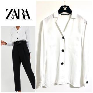 ZARA - ZARA デザインボタンシャツブラウス