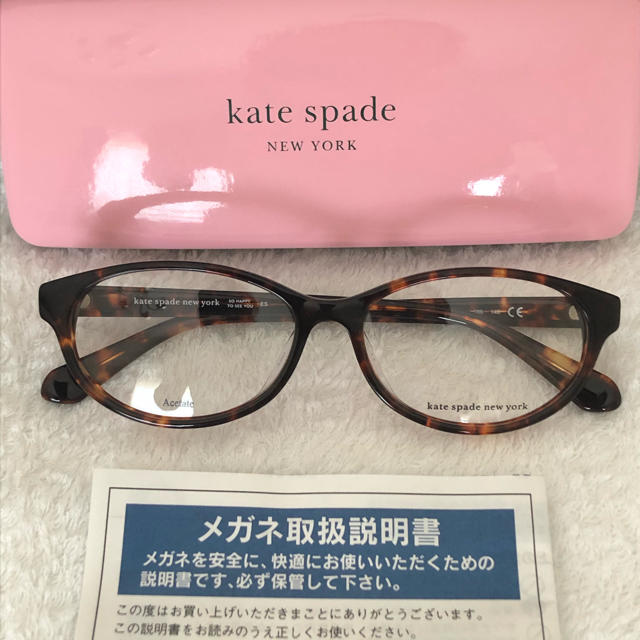 kate spade new york(ケイトスペードニューヨーク)の新品 ケイトスペード メガネ べっ甲  レディースのファッション小物(サングラス/メガネ)の商品写真