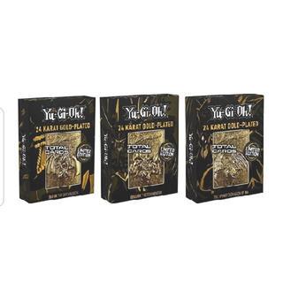 コナミ(KONAMI)の遊戯王 三幻神 金属製カード ゴールド 3種セット 5000個限定(シングルカード)