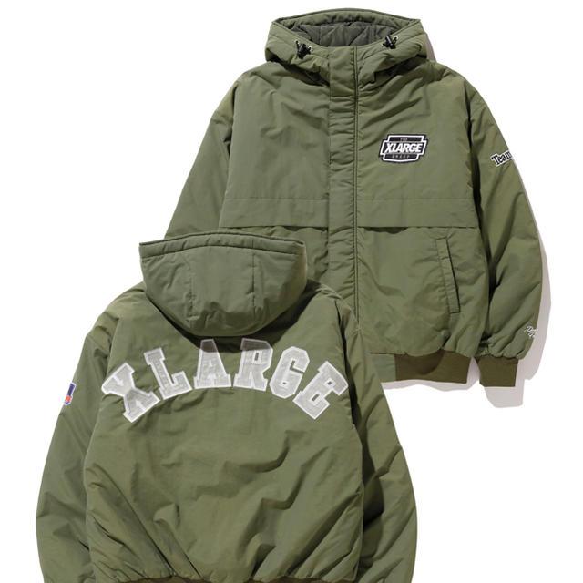 XLARGE(エクストララージ)の【XLARGE】ナイロンパーカージャケット オリーブ Lサイズ メンズのジャケット/アウター(ナイロンジャケット)の商品写真
