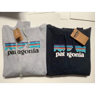 patagonia - 【季節の新品】2枚Patagoniaフード付き Lサイズ ブルー+グレー