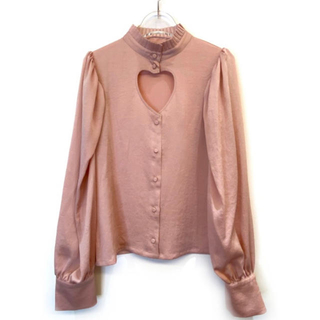 HONEY MI HONEY  satin heart blouse ブラウス