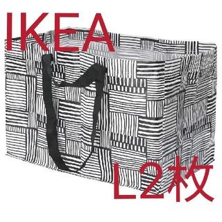 イケア(IKEA)のIKEA フィスラ Lサイズ2枚 エコバッグ(ショップ袋)