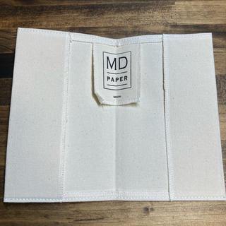 MIDORI PAPER MDノート 帆布 カバー  未使用(ノート/メモ帳/ふせん)