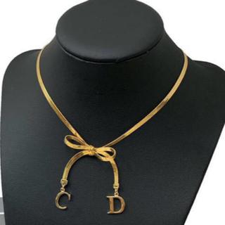 Christian Dior - 【新品】Christian Dior  ゴールド リボン チョーカーネックレス
