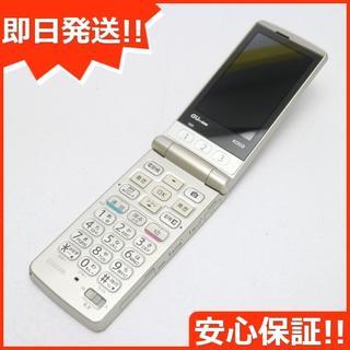 キョウセラ(京セラ)の良品中古 au K003 簡単ケータイ ゴールド 白ロム(携帯電話本体)