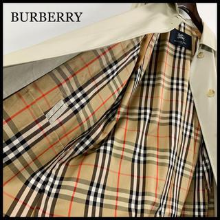 バーバリー(BURBERRY)のBURBERRY バーバリー ステンカラーコート ライトベージュ 腰ベルト付(ロングコート)