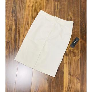 ダナキャランニューヨーク(DKNY)のDKNY ダナキャラン ニューヨーク スカート タイトスカート ホワイト 新品(ひざ丈スカート)