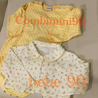 コンビミニ(Combi mini)のコンビミニ ロンパースとbebe花柄ブラウスのセット 90(ロンパース)