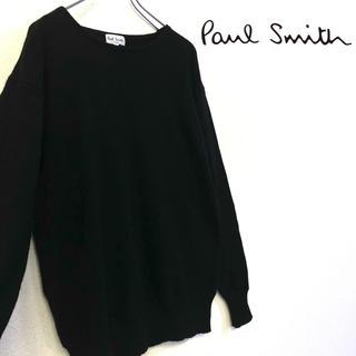 ポールスミス(Paul Smith)の美品 Paul Smith ニット カシミア100%セーター ブラック メンズL(ニット/セーター)