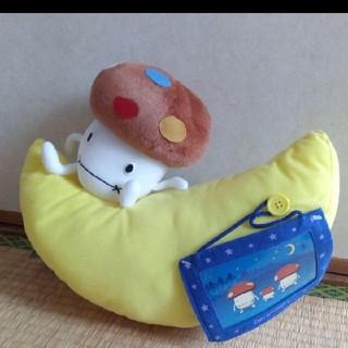 エヌティティドコモ(NTTdocomo)のドコモダケ フォトフレーム付 ぬいぐるみ 月(キャラクターグッズ)