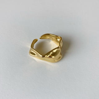TODAYFUL - 即納_Silver925,18kgp_ Crumpled ring