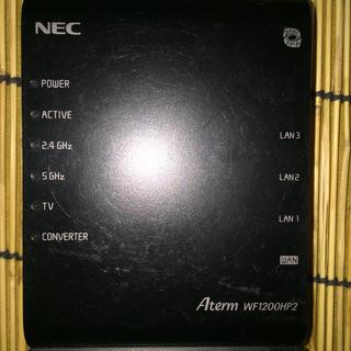 エヌイーシー(NEC)のNEC Wi-Fiルーター Aterm WF1200HP2(PC周辺機器)
