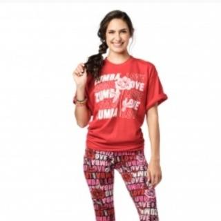 ズンバ(Zumba)のズンバTシャツ レッド(Tシャツ/カットソー(半袖/袖なし))