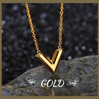 ◆大人気◆ V字 モチーフ ネックレス ゴールド メンズ レディース シンプル