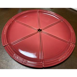 ⑤新品 ルクルーゼ パーティープレート ピザ ケーキ 6枚セット