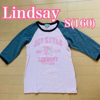 リンジィ(Lindsay)のLindsay リンジー 7分袖 ラグラン Tシャツ 160 女の子 L(Tシャツ/カットソー)