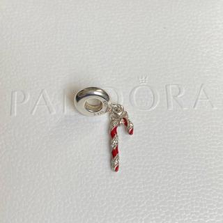 スワロフスキー(SWAROVSKI)のパンドラ Pandora ブレスレット ネックレス ステッキ チャーム レッド(チャーム)