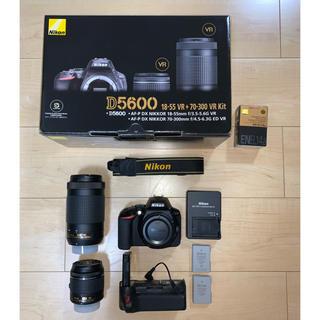Nikon - 【保証有美品】D5600ダブルズームキット