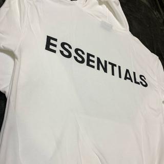 ESSENTIAL DESIGNS - MサイズFEAR OF GOD ESSENTIALS パーカー ホワイト