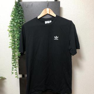 ビームス(BEAMS)のadidas アディダス   Tシャツ 半袖 ブラック Sサイズ(Tシャツ/カットソー(半袖/袖なし))