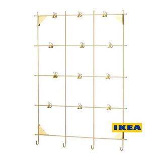 イケア(IKEA)の[地域限定] IKEA MYRHEDEN メモボード クリップ付き, 黄銅色(ウェルカムボード)