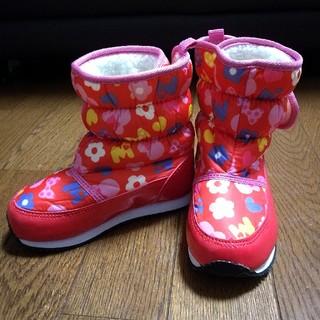 Disney - 女の子 ブーツ ミニー 16cm 子ども スノーブーツ ディズニー