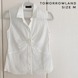 トゥモローランド(TOMORROWLAND)のTOMMROWLAND ノースリーブリネンシャツ (シャツ/ブラウス(半袖/袖なし))
