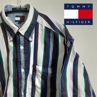 トミーヒルフィガー(TOMMY HILFIGER)のTOMMY HILFIGER トミーヒルフィガー ストライプシャツ カットオフ(シャツ/ブラウス(半袖/袖なし))
