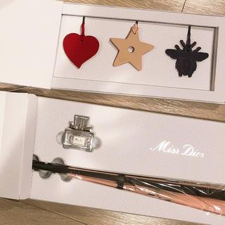 Dior - dior ミスディオールファンギフトセット バッグチャーム 扇子 セット