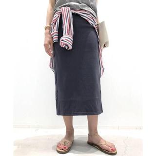 L'Appartement DEUXIEME CLASSE - アパルトモン別注 AMERICANA Sweat スカート ネイビー36