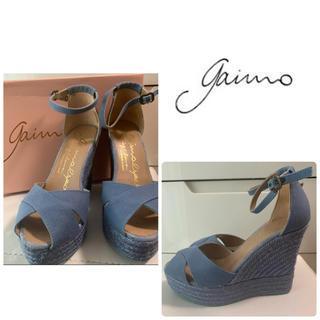 gaimo - 美品 gaimo  ライトブルーキャンバス サンダル