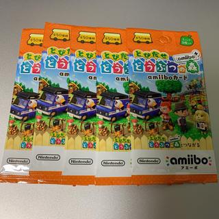 【5パックセット】 とびだせ どうぶつの森 amiibo+ amiiboカード