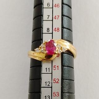 ジュエリーマキ(ジュエリーマキ)のジュエリーマキ ルビー&ダイヤリングK18(リング(指輪))