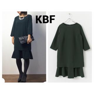 ケービーエフ(KBF)のKBF+ ペプラムセットワンピース(ひざ丈ワンピース)