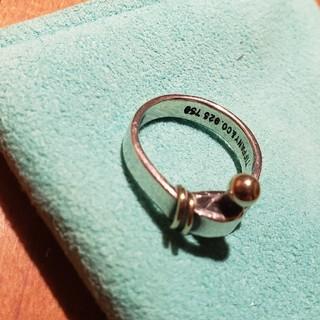 ティファニー(Tiffany & Co.)のティファニー フック&アイ コンビ リング silver925 k18 (リング(指輪))