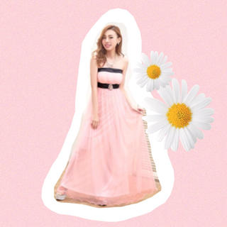 dazzy store - 【新品】dazzy store♡ベア/シフォン/ロングドレス♡ピンク