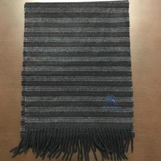バーバリーブラックレーベル(BURBERRY BLACK LABEL)のバーバリーブラックレーベル マフラー カシミヤ100%(マフラー)