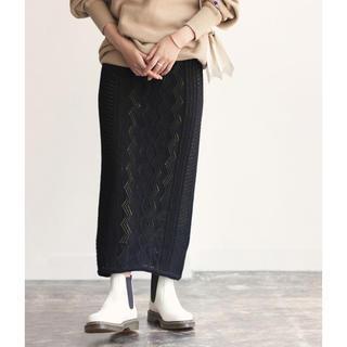 アダムエロぺ(Adam et Rope')のADAM ET ROPÉ FEMME MIXパターンニットスカート(ロングスカート)