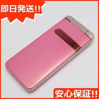 京セラ - 美品 au GRATINA ピンク 白ロム