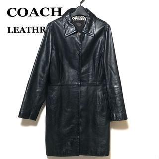 コーチ(COACH)のCOACH レザーコート M/コーチ ステンカラー レディース(その他)