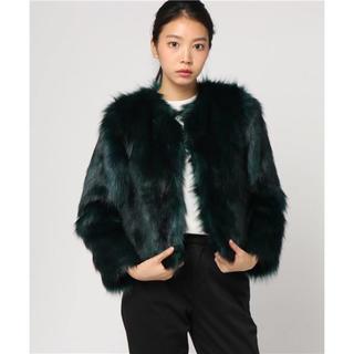 スライ(SLY)のSLY ノーカラー FAUX FUR COAT(毛皮/ファーコート)