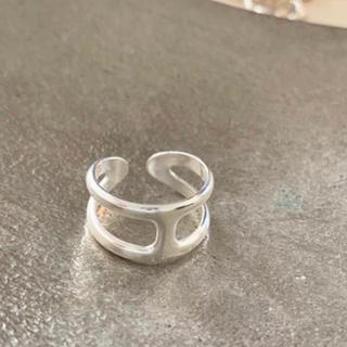 トゥデイフル(TODAYFUL)のHモチーフ オスモズ風リング silver925 (リング(指輪))