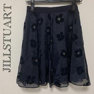 ジルスチュアート(JILLSTUART)のJILLSTUART 花柄スカート ネイビー(ミニスカート)