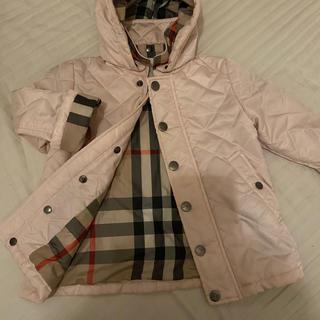 BURBERRY - バーバリーチルドレン 2y キルティングコート ピンク 美品