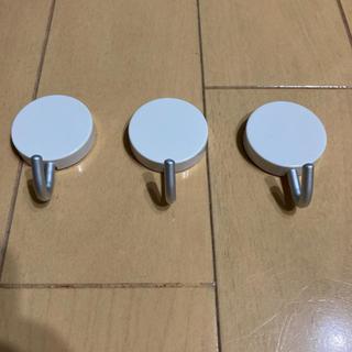 MUJI (無印良品) - 無印良品 アルミフック マグネットタイプ 小 3個入 約幅3.5×高さ5cm