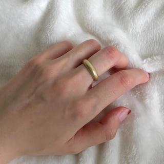 ⚫︎simpleリング〈マットゴールド〉(リング(指輪))